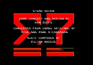 Sigma 7 Amstrad title